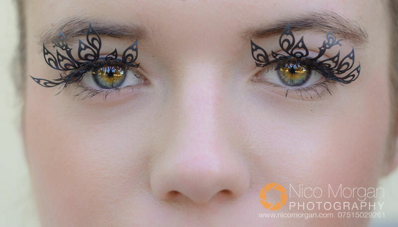 apatchy eyelashes on female model - Commercial Photography