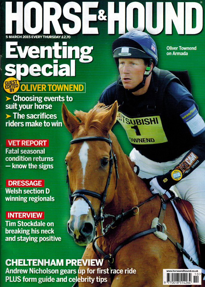 Oliver Townend, Horse & Hound cover March 2015