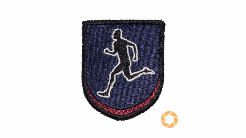 apatchy badge running man - Apatchy