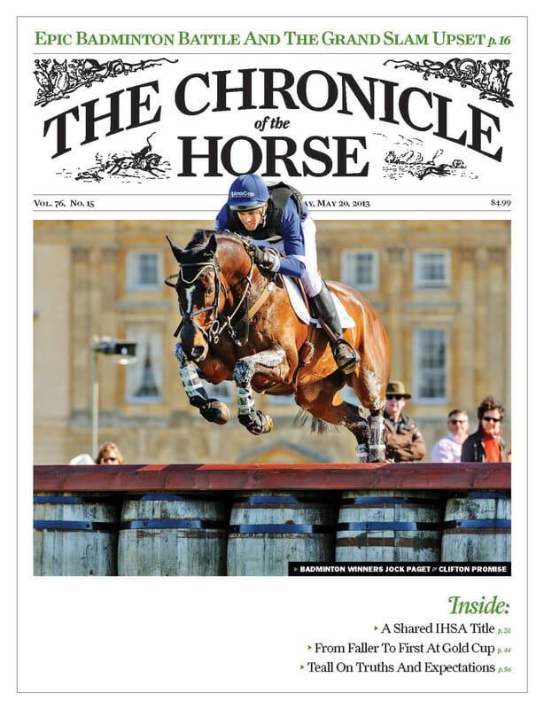 Chronicle of the Horse cover May 2013