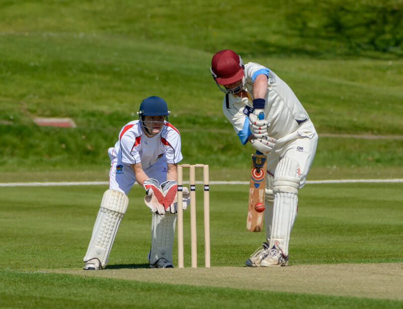 Richard Drinkwater on his way to a good 50