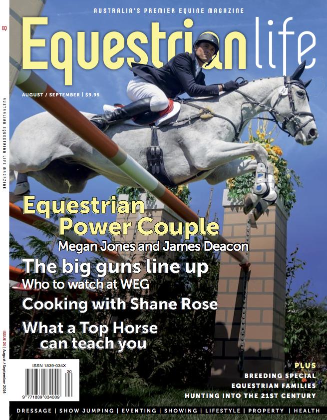equestrian life cover paul tapner september 2014 - Equestrian Life (AUS)