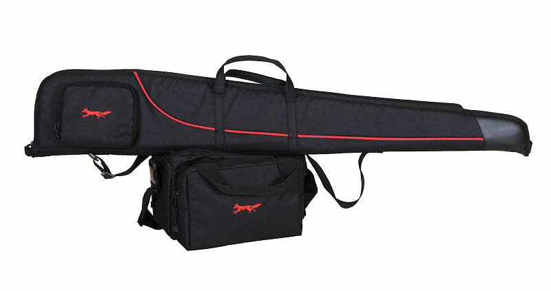 gun slip and cartridge bag by bonart in red and black - Bonart Ltd.