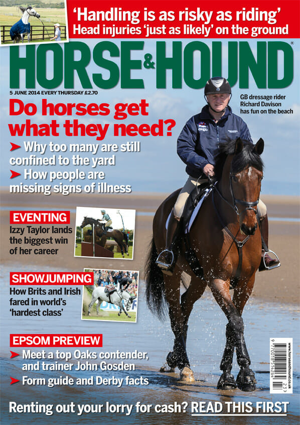 horse and hound cover richard davidson june 2014 - Horse & Hound (Covers)