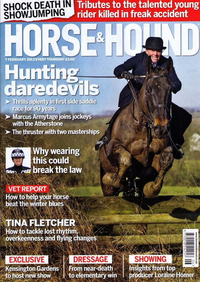 Horse & Hound cover February 2013 Nico Morgan Media