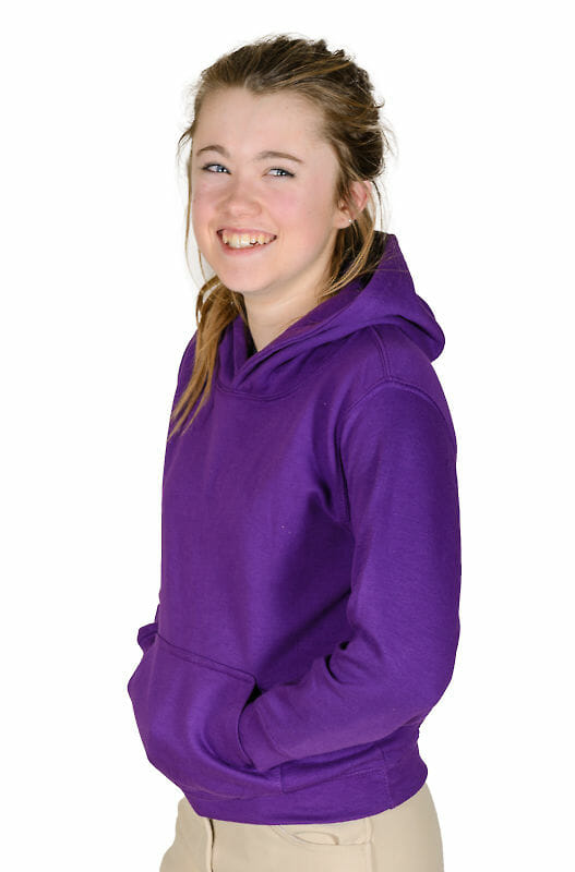 hoys hoodie worn by model - Tagg Equestrian