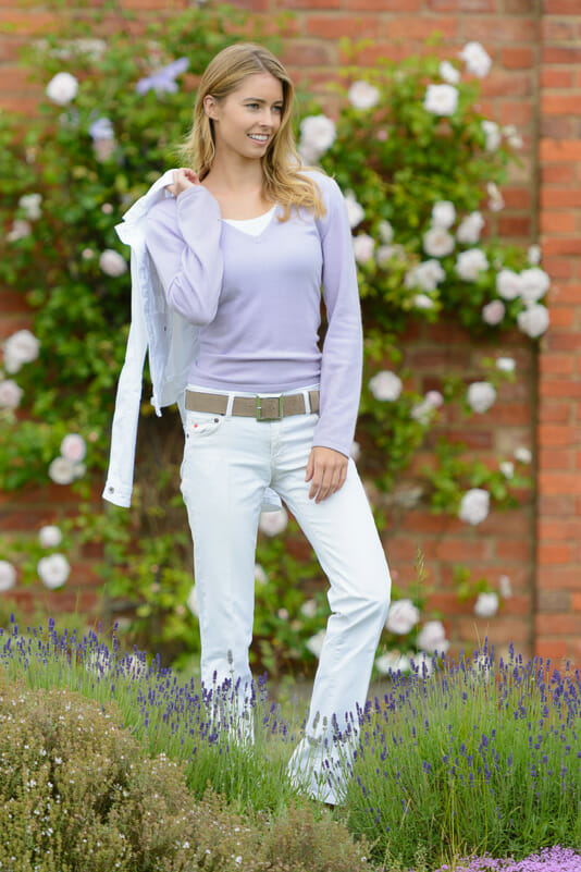 model amy neville wearing peachy belts - Peachy Belts