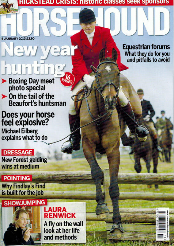 nicholas leeming horse and hound cover jan 2013 - Horse & Hound (Covers)