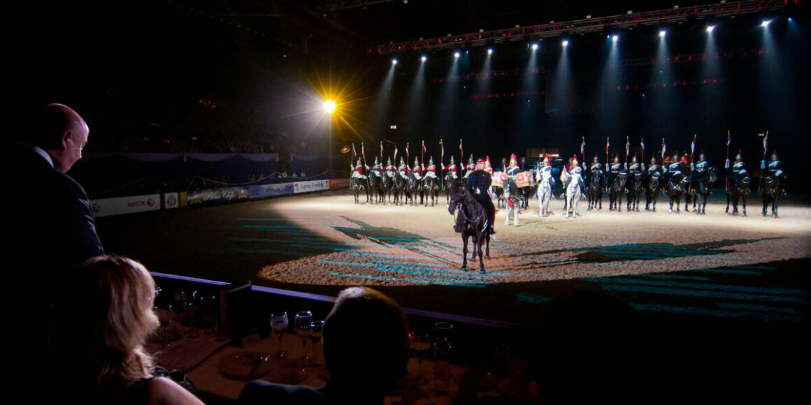 the household cavalry salute their sponsor at hoys 2011 - Event Photography