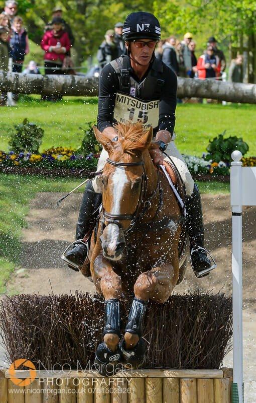 andrew nicholson and nereo gatehouse pond badminton horse trials - Mitsubishi Motors Badminton Horse Trials 2015 - Cross Country