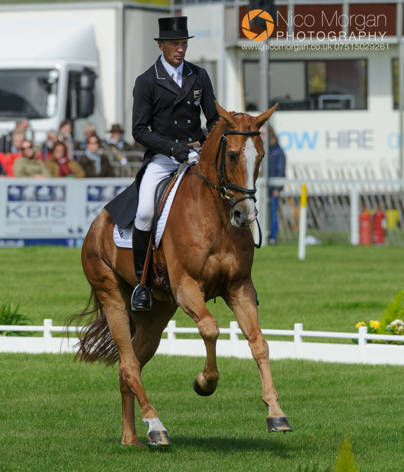 andrew nicholson and nereo - Badminton Horse Trials - Nicholson and Nereo lead after dressage.
