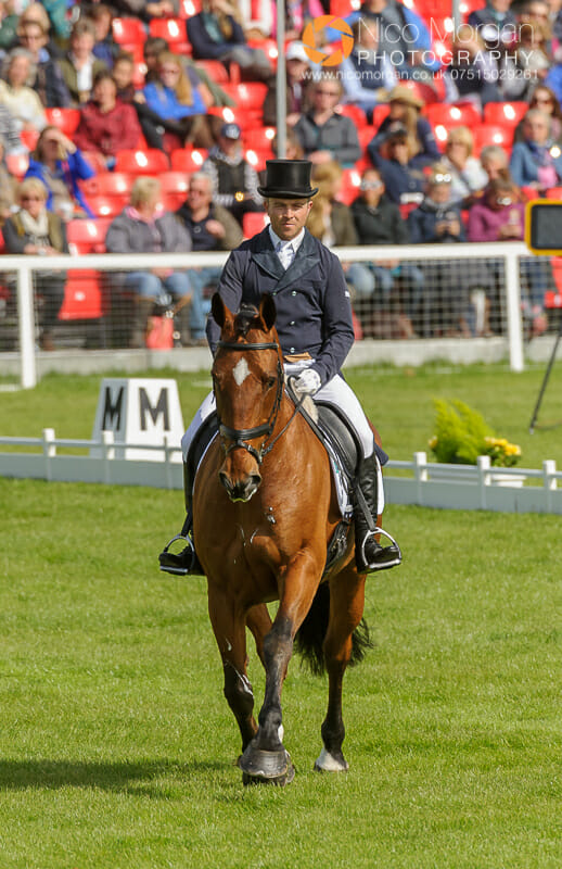 ben hobday and mulrys error - Badminton Horse Trials - Nicholson and Nereo lead after dressage.