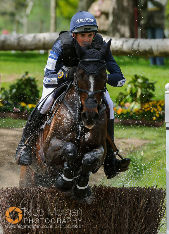 jock paget and clifton promise gatehouse pond badminton - Mitsubishi Motors Badminton Horse Trials 2015 - Cross Country