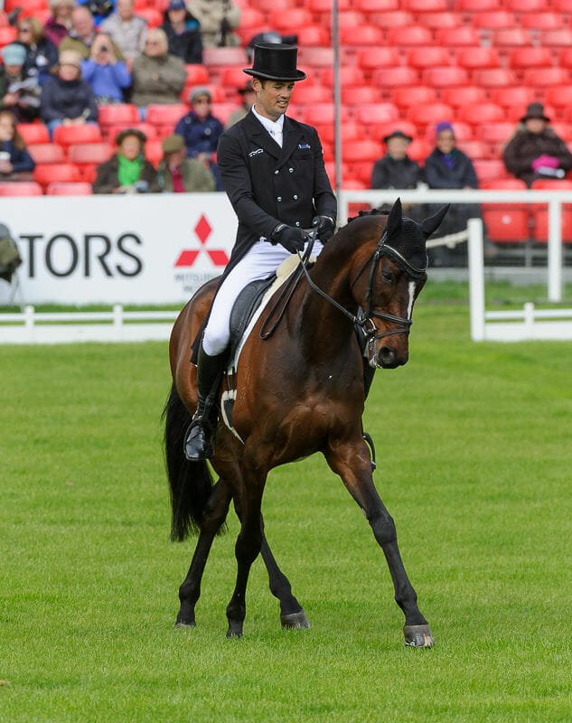 jock paget and clifton promise - Badminton Horse Trials - Nicholson and Nereo lead after dressage.