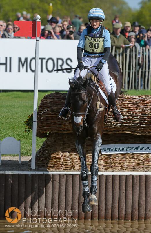 jonelle price and the deputy - Mitsubishi Motors Badminton Horse Trials 2015 - Cross Country