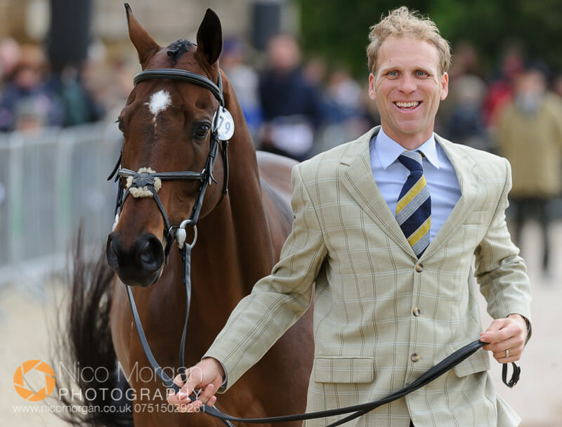 nick gauntlett and el grado - Badminton 2015 - The first inspection