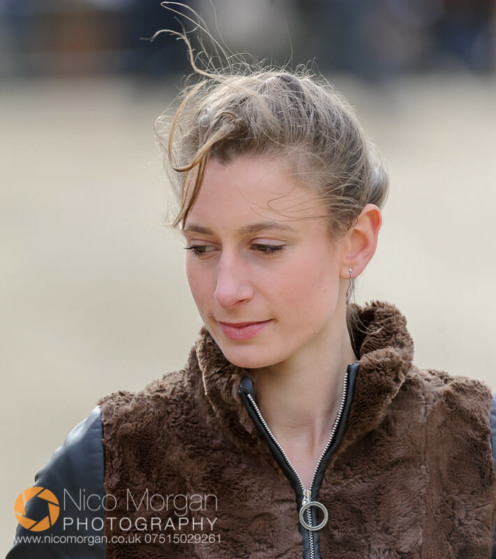 rosie carnegie and landline - Badminton 2015 - The first inspection