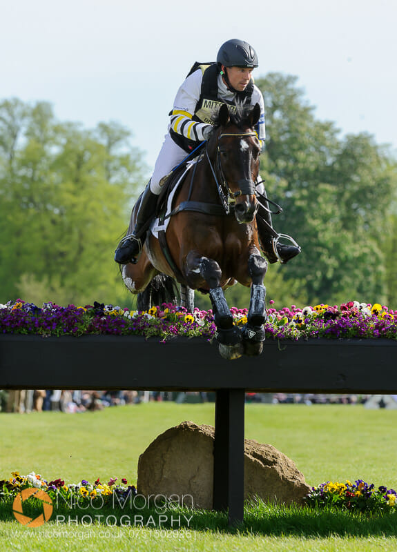 sam griffiths and happy times - Mitsubishi Motors Badminton Horse Trials 2015 - Cross Country
