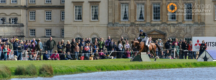 William Fox-Pitt and CHILLI MORNING - cross country phase - Mitsubishi Motors Badminton Horse Trials, Badminton House, Saturday 9th May 2015.