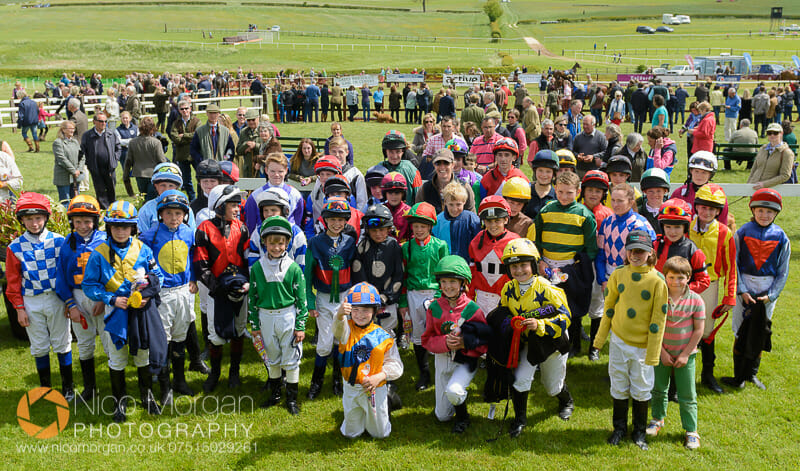 The massed ranks of pony racers after their championships