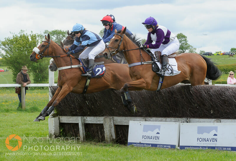 Action from the PPORA Members race for Novice Riders