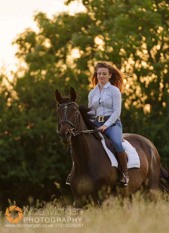 girl-on-bay-horse-at-sunset
