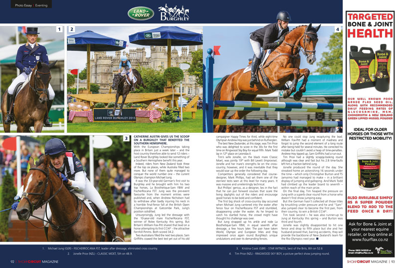 Show Circuit magazine spread - Nico Morgan Media