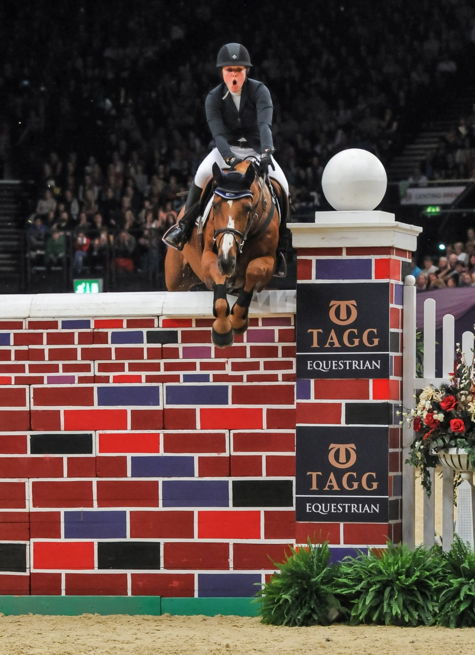 Victoria Gulliksen - joint winner of the puissance