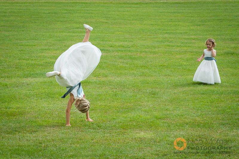 bridesmaids cartwheel