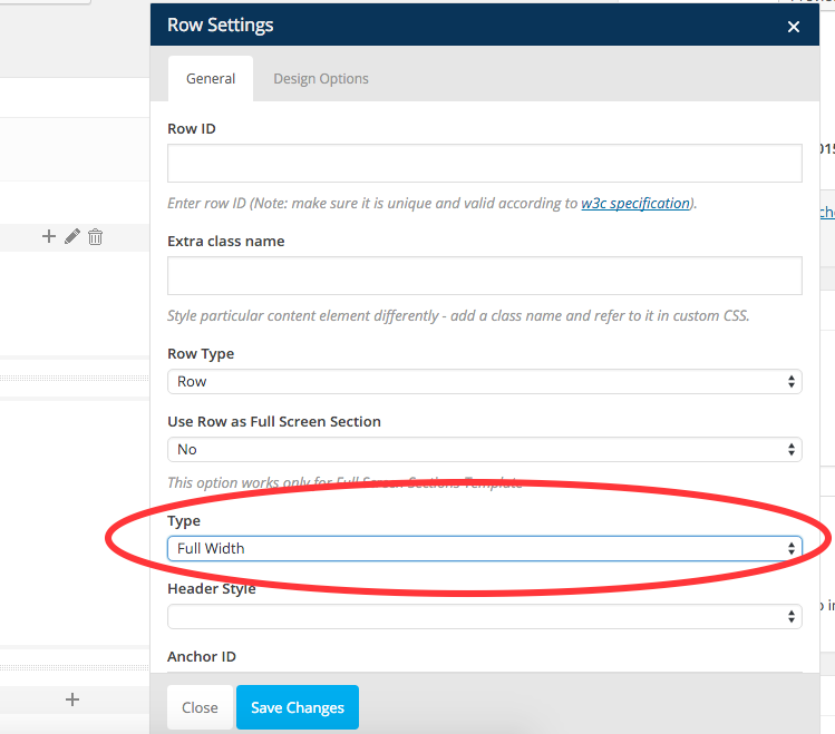 change visual composer row type to full width to solve contact form problem