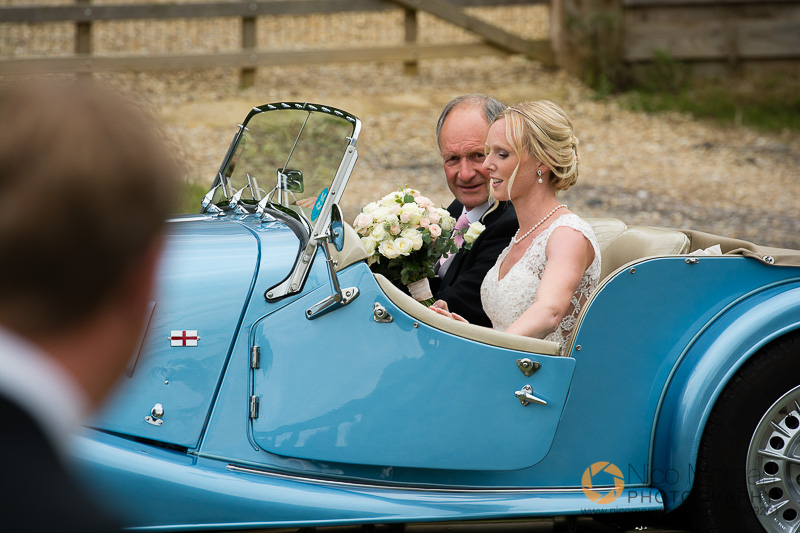 Bride and Father of Bride in the Morgan