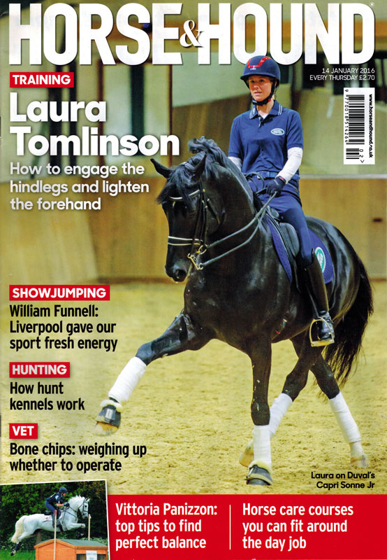 horse and hound laura tomlinson cover january 2016 - Horse & Hound (Covers)