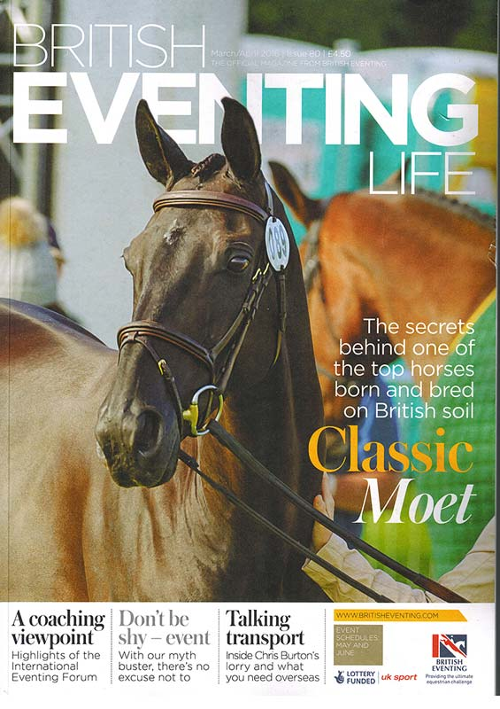 british eventing life cover classic moet - British Eventing Life Magazine