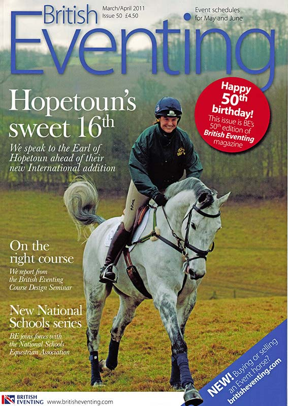 british eventing life cover piggy french - British Eventing Life Magazine