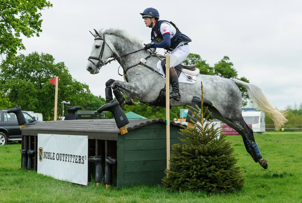 Noble Outfitters rider Alex Tordoff at Rockingham Castle Horse Trials