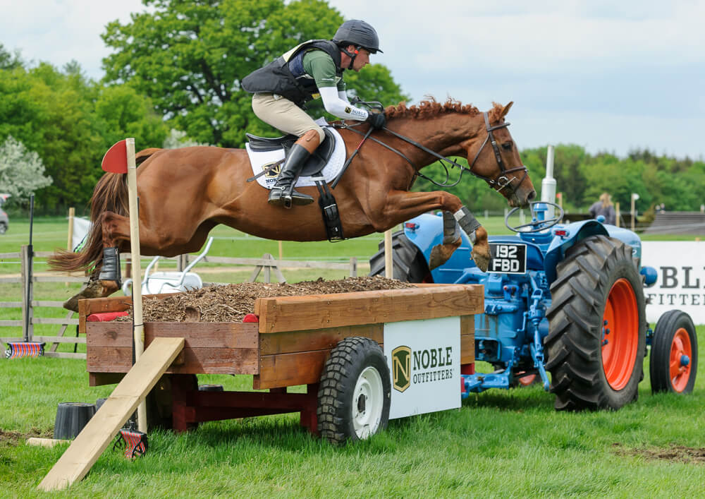 Noble Outfitters rider Simon Grieve at Rockingham Castle Horse Trials