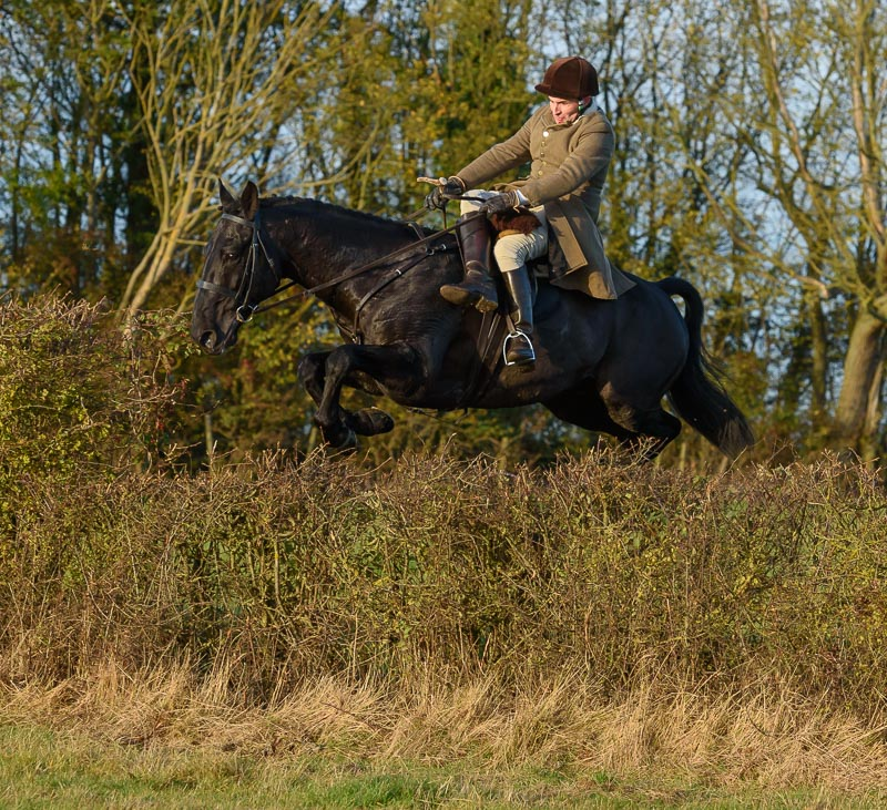 Bruce McKim was Field Master for the day and rode side saddle