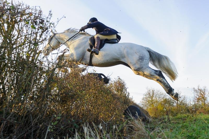 Jumping an open ditch