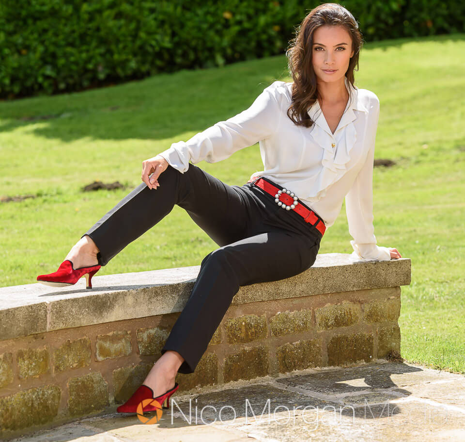 Natasha Beardmore model - Commercial Photography for Peachy Belts