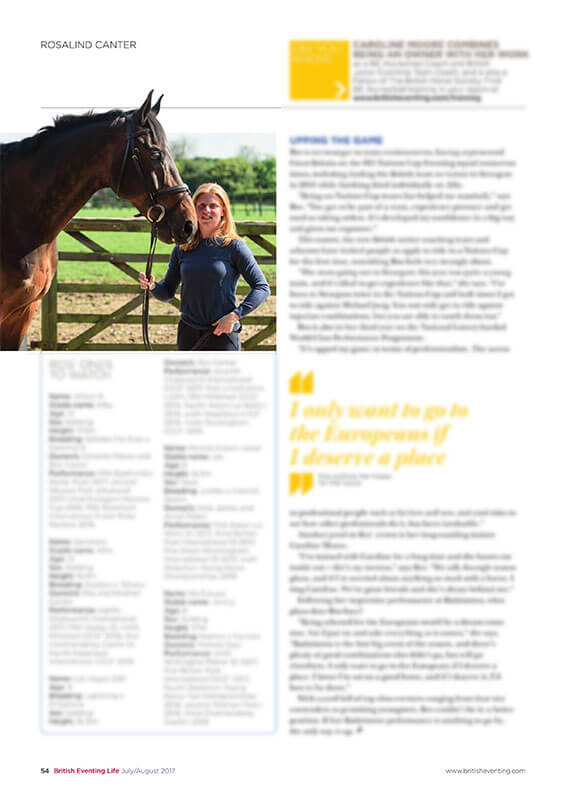 british eventing life summer 2017 rosalind canter - British Eventing Life Magazine
