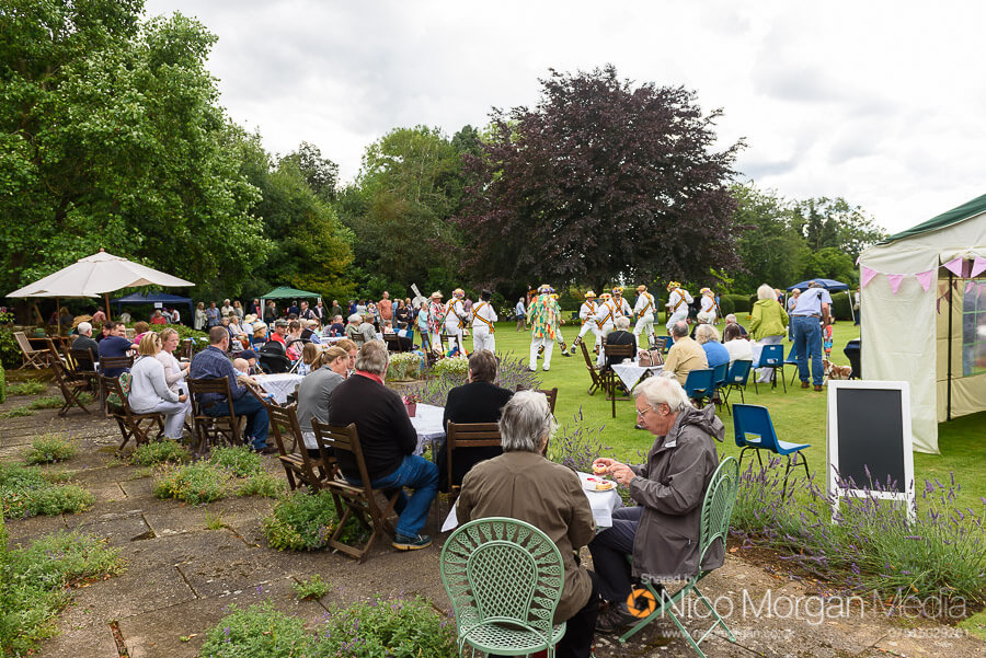 Cream teas on the lawn at Ashwell Grange