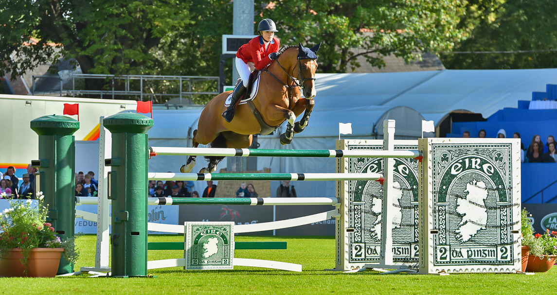 Lillie Keenan at the Dublin Horse Show Nations Cup
