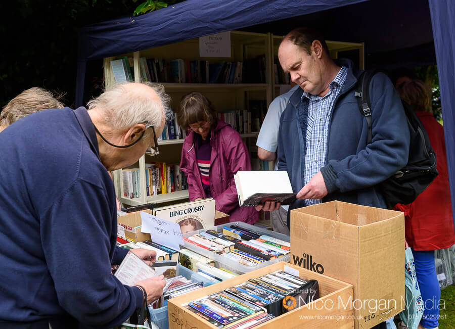 The book and DVD stall was very popular