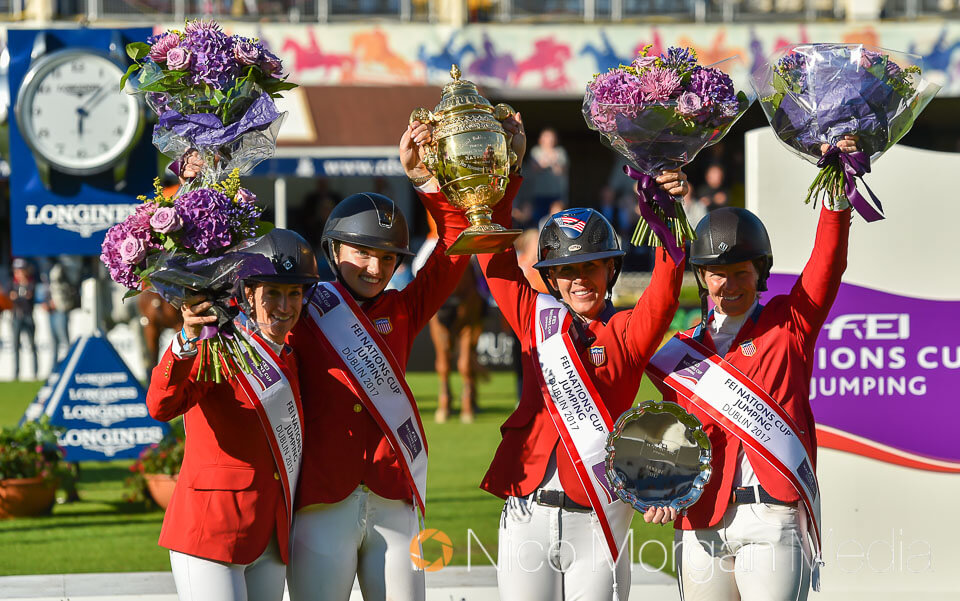 usa nations cup team dublin horse show - Event Photography