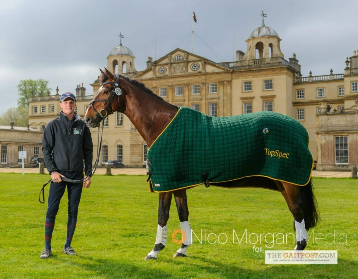 Tom Jackson in front of Badminton House