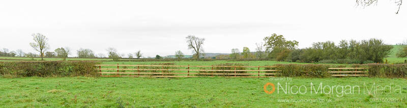 Melton Hunt Club Ride 2017: Approach to Fence 1 (further down the hill)