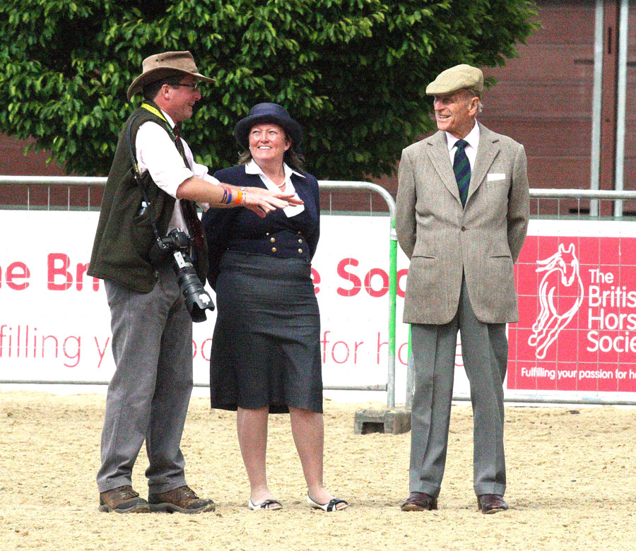 Nico talks to Yvonne Pritchard and the Duke of Edinburgh at Royal Windsor
