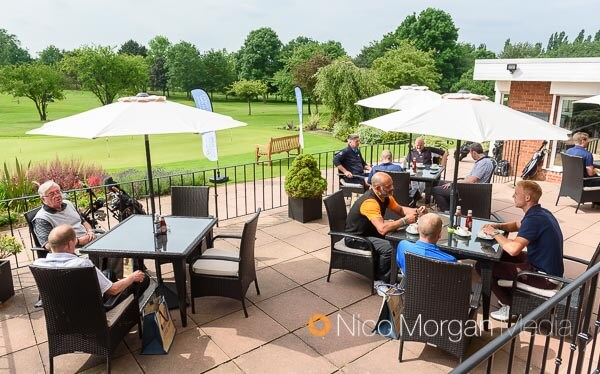 Guests gather for breakfast at the Leicestershire Golf Club