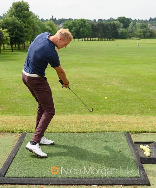 Warming up on the driving range