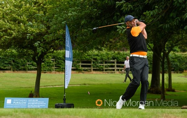 Dean Headley tees off from the first